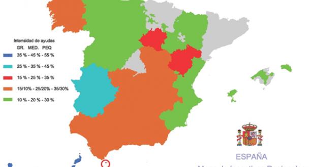 Mapa regional de incentivos y ayudas 2014-2020